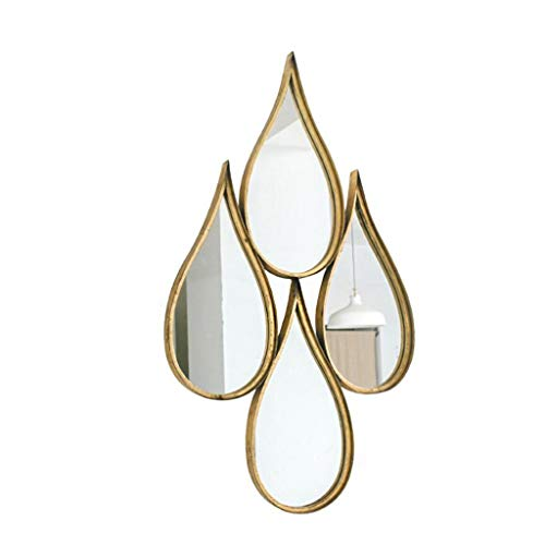 YXB Iron Druppelvormige Spiegel Badkamer Wandmontage Spiegel Vloer Creatieve Industriële Wind Decoratieve Spiegel J4/18