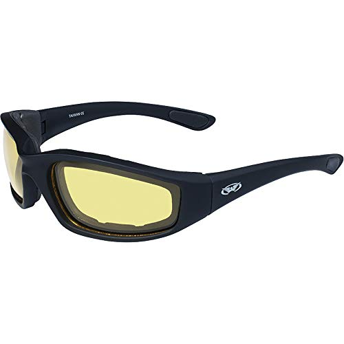Global Vision Eyewear Men's Kickback 24 Sunglasses with Photochromic Color Changing Lenses, Yellow, Standard by Global Vision Eyewear