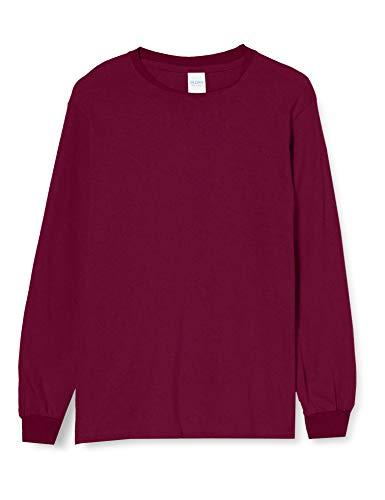 Gildan Herren Ultra Cotton L/Sleeve Tee T-Shirt, Braun (Kastanienbraun), XL