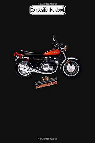 Composition Notebook: 1972 Kawasaki 900 Z1 by Motormaniac Biker Trike Touring Training Trips City Notebook Journal/Notebook Blank Lined Ruled 6x9 100 Pages