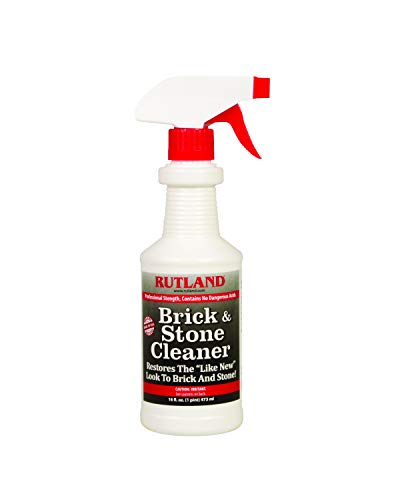 of cleaning fireplace stones Rutland Products, 16 fl oz Brick & Stone Cleaner, Fl.Oz, Clear