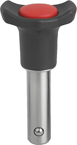 KIPP – Bedienteile | Normelemente K0363.3808020 Kugelsperrbolzen, Form AThermoplast, selbstsichernd, Komp:rot, Durchmesser 8 mm, länge 20 mm, verkehrsrot ral3020, L: 20mm