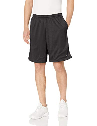 Champion Men's Long Mesh Short With Pockets,Black,XX-Large