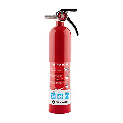 First Alert HOME1 Rechargeable Home Fire Extinguisher 2-Pack, Red