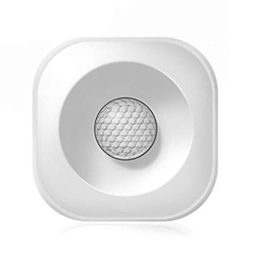 SODIAL Detector De Sensor De Movimiento Pir Inteligente Inalámbrico De Alta Precisión Inteligente Alarma Antirrobo De Seguridad Inteligente Compatible Con Alexa Google