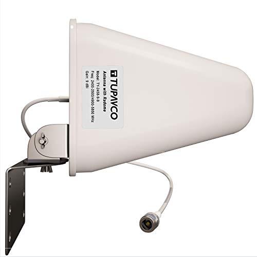 Tupavco DB541 WiFi Antenna Dual Band - (2.4GHz) and (5GHz/5.8GHz) 9DBI - Medium Range Directional (not-Yagi) Wireless LAN Network Antenna, White