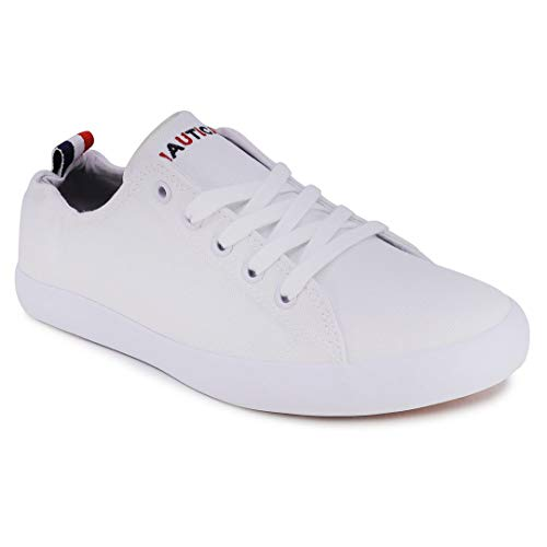 Nautica Women Lace-Up Fashion Sneaker Casual Shoes-Akila-White-9.5