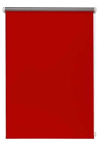 Thermo-Rollo Rot 100x150 cm ohne Bohren Verdunkelungsrollo Seitenzugrollo Klemmrollo Blackout Silberbeschichtung