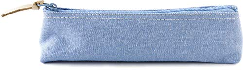 ペンケース 20カラーデニム 布製 日本製 ブルー SLD-7801 スリップオン