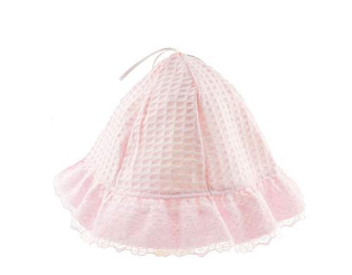 Glamour Girlz Bonnet en coton gaufré pour bébé fille rose rose Medium 6-9 Months