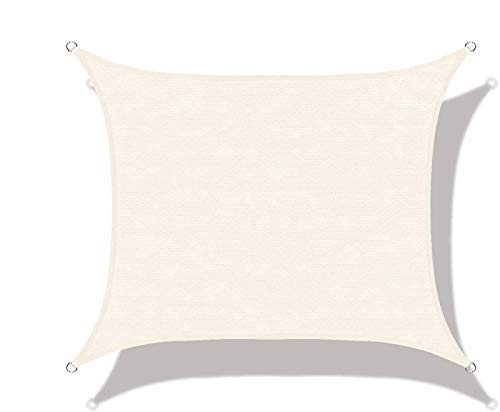 Sunrise Améliorée Taud Durable extérieur Jardin Protection Canopy UV Tissu (Color : Cream, Size : 5x5x5m)