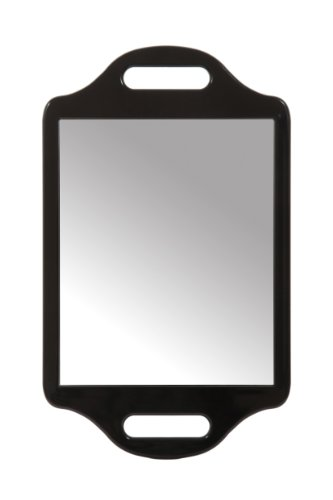 Matty Bond Street Hairdressing Beauty Salon Mirror with Twin Handle Black