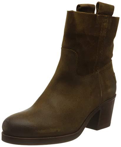 Shabbies Amsterdam Damen SHS0254 ANKLE BOOT 5.5 CM WAXED SUEDE, Brown, 38 EU