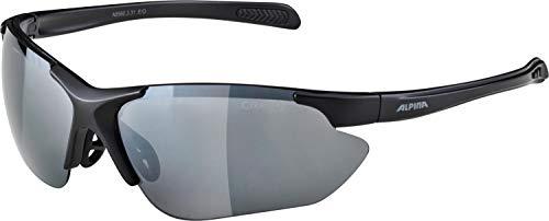 ALPINA JALIX Sportbrille, Unisex– Erwachsene, black matt, one size