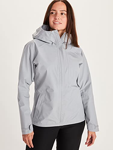 Marmot Womens Minimalist Lightweight Waterproof Rain Jacket, Sleet , X-Small