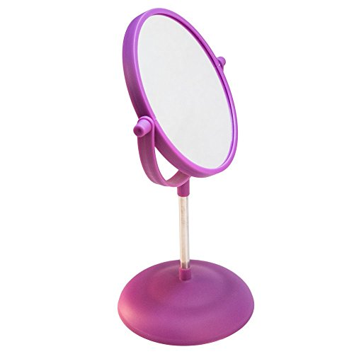TukTek Double-Sided Vanity Makeup Mirror, 1X & 2X Magnification and 360 Degree Rotation, Two-Sided Mirror for Bedroom, Dressers, Tabletop, Bathroom