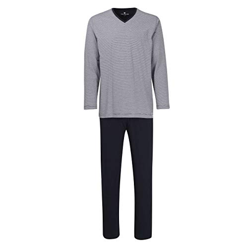 TOM TAILOR Herren Pyjama blau quergestreift 1er Pack 52