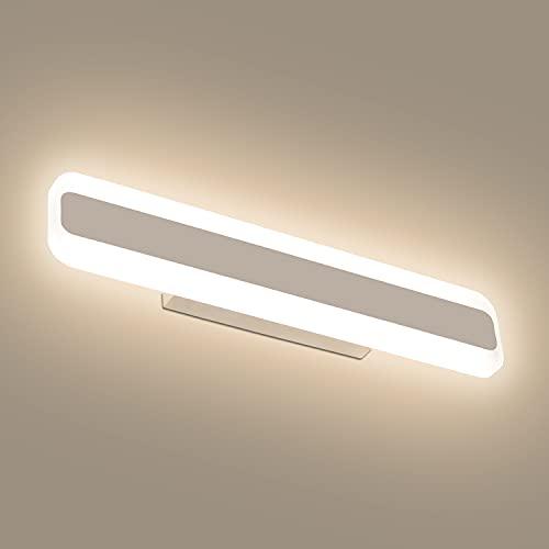 Dehobo Lámpara de Espejo Baño 40cm 14W, Aplique Luces Baño Moderno Blanco Neutro...