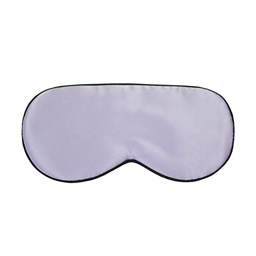 Blindfold - Double-sided mulberry silk goggles elasticated aviation flight sleep goggles (Color : Light Purple)