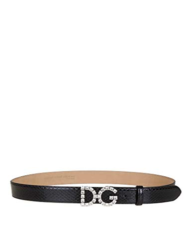 Dolce e Gabbana Luxury Fashion Damen BE1311AU92380999 Schwarz Leder Gürtel | Jahreszeit Permanent