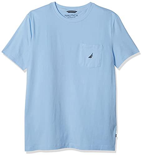 Nautica Men's Solid Pocket T-Shirt, Noon Blue, XX-Large