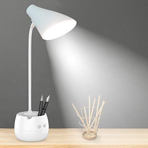 Pick Ur Needs® Rechargeable LED Touch On/Off Switch Desk Light, Children Eye Protection Student Study Reading Dimmer Led Study...