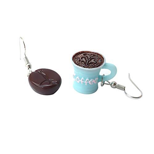 Ruby569y Pendientes colgantes para mujeres y niñas, pendientes de gancho de mano de obra fina joyería animada encantadores pendientes de aro de resina para la vida diaria - azul