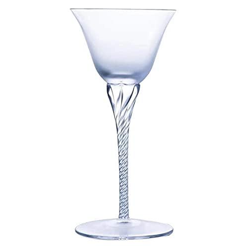 DealMux Copa de vino tinto 2 piezas/Taza de cristal Vaso de tallo largo Vaso clásico Vasos Decoración elegante (Color: Transparente, Tamaño: Talla única)