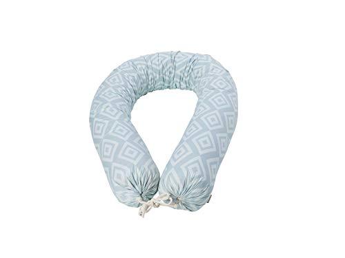 Bio Stillkissen Stillschlange 100% Bio-Baumwolle (kbA) mit Kapok Füllung, Mint, 16 x 200 cm