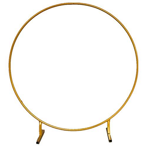 Party Hochzeit Requisiten Dekor Schmiedeeisen Ring Bogen Hintergrund Einpolig Bogen Rahmen Blumentor Für Outdoor Rasen Ehering Dekoration Gold,2.4m