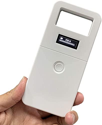 Scanner per Microchip per Animali Domestici, Mini Lettore di Chip Portatile palmare, Schermo retroilluminato Pet Lettore RFID Universale per ISO 11784 11785, FDX-B e ID64 RFID