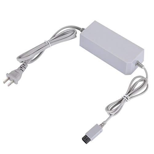 Fdit Alimentatore per Nintendo Wii, Adattatore per Cavo di Alimentazione 100-240V AC-DC 9V per Ricarica Console di Gioco (Non per Wii U)(EU)