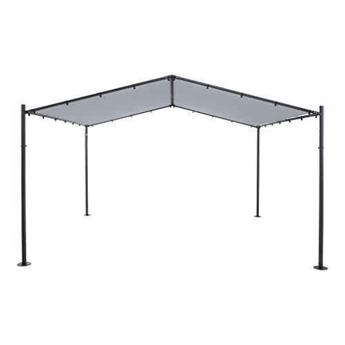 SORARA Pergola Exterieur | Gris | 400 x 350 cm / 4 x 3.5m | pour Jardin, Patio, carport