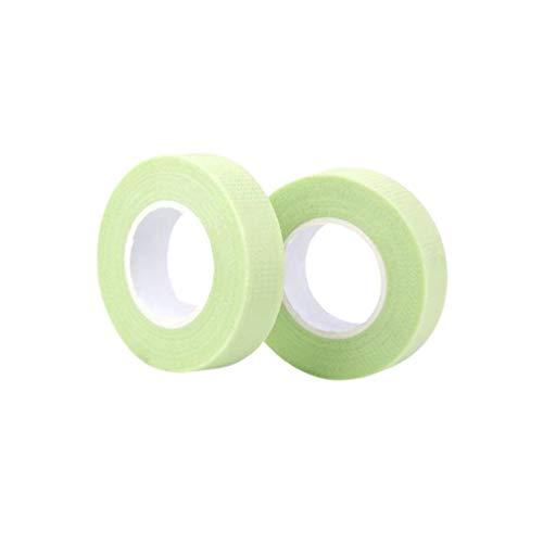Minkissy Bande D'extension de Cils Ruban de Greffage Bande de Tissu pour Faux Patch de Cils Outil de Maquillage Vert 2Pcs
