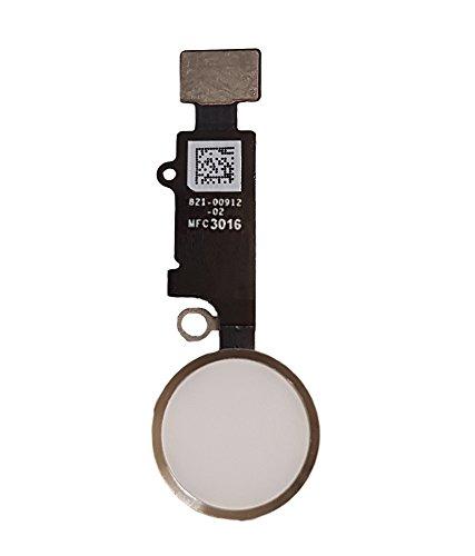 Smartex| Home Button Flexkable kompatibel mit iPhone 7 – Weiß Homebutton Schalter Ersatzteil