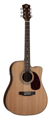 Luna Guitars AM D100 - Guitarra electroacústica, color marrón