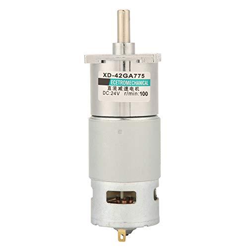 Motor de engranajes DC XD-42GA775 de alta potencia 12V / 24V para máquinas de grabado para amoladoras eléctricas(100RPM, 24V)