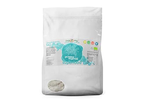 Energy Feelings Proteina de arroz integral ecológica - 1 Kg | 80% proteina | rica en BCAA | hipoalergenica ✅