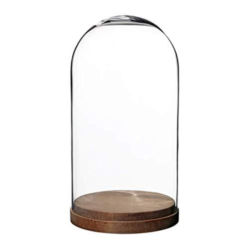 Ikea Harliga Glaskuppel mit Sockel, klares Glas, Größe 10, 7,9 cm