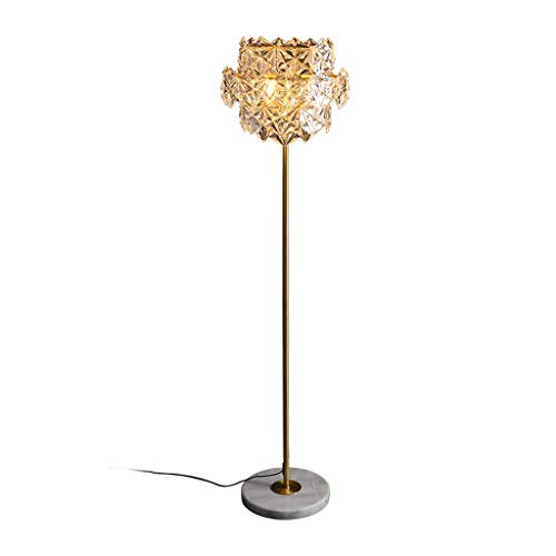 Tingting1992 Lámpara de pie de Cristal Sala de Estar Dormitorio Lámpara de pie