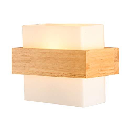 lámpara de Pared Casa y Pared de la Cocina de luz con Aplique de Pared de Madera Maciza LED for Herramientas y decoración for el hogar, Que Viven Pared de la Sala luz (Blanco) iluminación Aplique