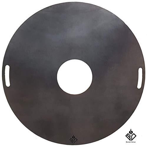 Becker Design Feuerplatte | Grillring | Plancha | Grillplatte Ø80cm/6mm -ideal für Feuertonnen/Kugelgrills/Feuerschalen-