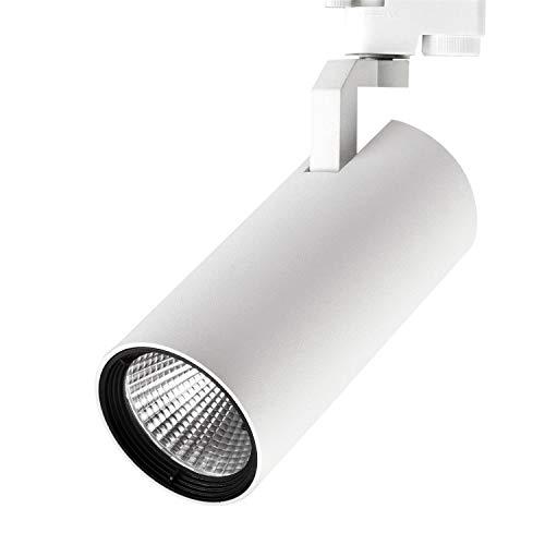 Volton - Foco LED de Carril trifásico 25W 2200Lm 3000K Blanco Mate Texturizado