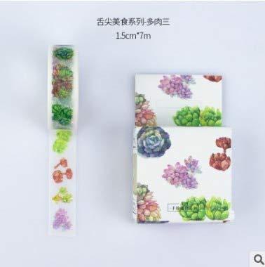IENGWG 15mm * 7 mt Dessert/Japanische sushi essen/sukkulenten Pflanzen Papier Washi Tape DIY Aufkleber DIY Planer Album Handwerk KreppbandC