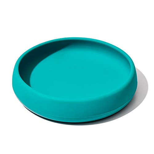 OXO Tot Silicone bord Teal | Tealblauw | Onbreekbaar | Verzwaarde bodem