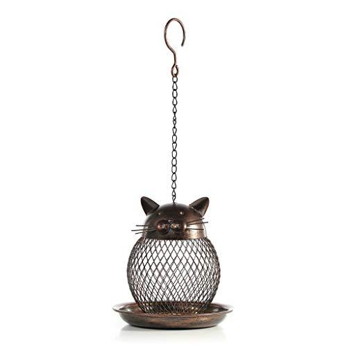 JXXDDQ Mangeoire pour Oiseaux en Forme de Chat Mannequin pour Chats Vintage Fait Main Décor extérieur Décoration de Jardin Suspendu