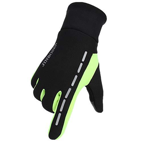 Xme Warme Handschuhe für Outdoor-Wintersportler, männliche und weibliche Vollfinger-Fleecehandschuhe, reflektierender Touchscreen und Dicke Samthandschuhe