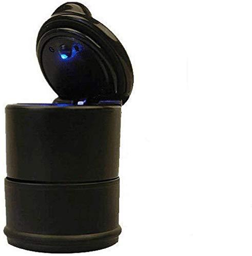 AMITD draagbare auto-LED blauw licht asbak sigarettenaansteker bekerhouder sigaar asbak auto reistas roken voor buiten