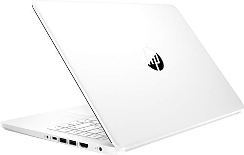 """2021 HP 14"""" HD Slim and Light Laptop, Intel Celeron N4020 Processor, 4GB RAM, 64GB eMMC, Webcam, HDMI, Windows 10 S, 1 Year Office 365 /IFT Accessories (Google Classroom or Zoom Compatible) White"""