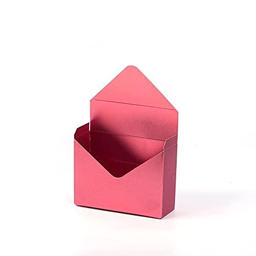 TuoXie Caja de regalo con diseño de sobres de color sólido, caja de regalo creativa de ramo de flores (color: D, tamaño: 20 x 7 x 29,5 cm)